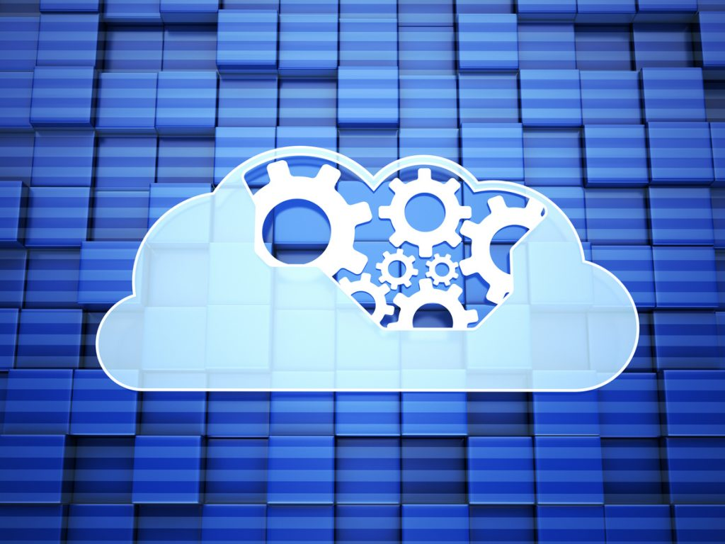 Cloud Computing on blue background